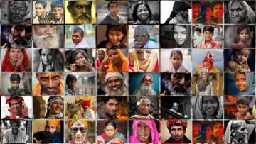 Teléfonos celulares en la diversidad de la India.