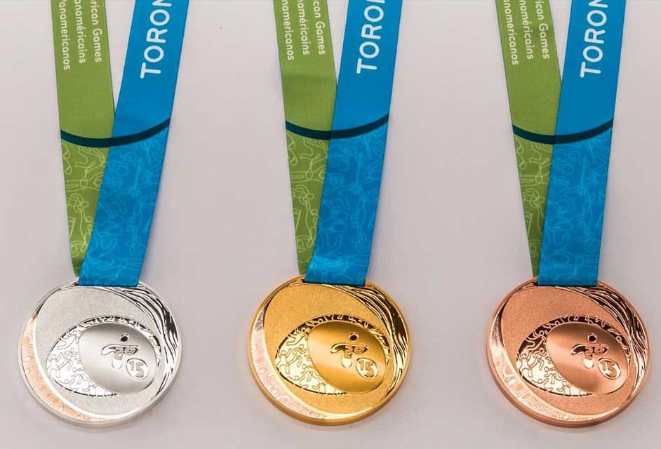 Medallas oficiales de los Juegos Panamericanos Toronto 2015.