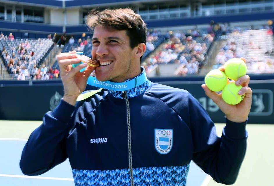 El rosarino Facundo Bagnis, oro en individuales y plata en dobles masculinos.