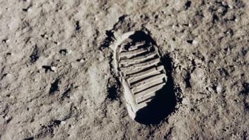 Súper Luna de Sangre: la pisada de los hombres sobre la superficie lunar.