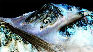 Evidencias de agua líquida en el Cráter Hale en Marte.