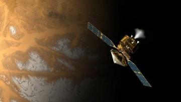 Imagen de la sonda Mars Reconnaissance Orbiter (MRO) sobre Marte.