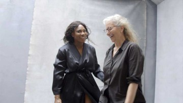 Calendario Pirelli 2016: Serena Williams y Annie Leibovitz en el set.