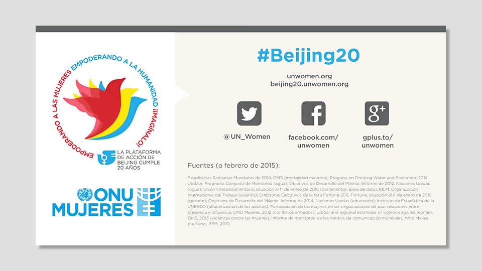 Día Internacional de la Mujer 2016: 20 años de la plataforma de Beijing