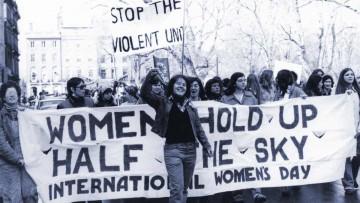 Día Internacional de la Mujer 2016: marchas a principios de la década de 1980.