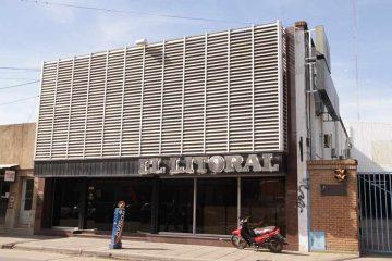 98 aniversario de El litoral: fachada del viejo edificio de 25 de Mayo 3536.
