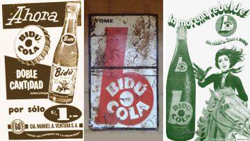 Anuncios de Bidú Cola en el extranjero.