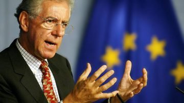 El ex premier Mario Monti y Bidú Cola.