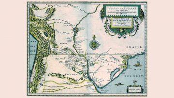 Mapa del Paraguay y el Río de la Plata, Jodocus Hondus, circa 1600.