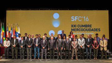 Cierre de SFC'16, XXI Cumbre de Mercociudades realizada en Santa Fe.
