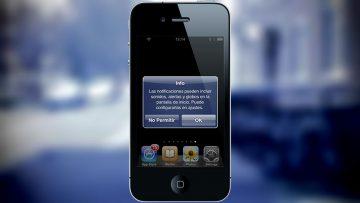 Notificaciones push en un iPhone 4.