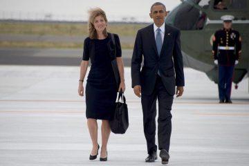 Caroline Kennedy y Barack Obama en Japón, mayo de 2016.