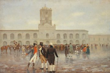 """Idus de mayo: """"La Revolución de Mayo"""", óleo de Francisco Fortuny."""