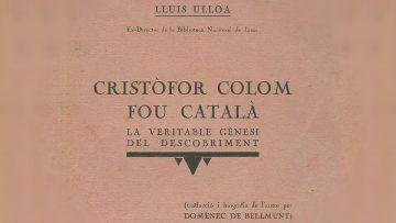 Cristóbal Colón catalán: tapa del libro de Ulloa