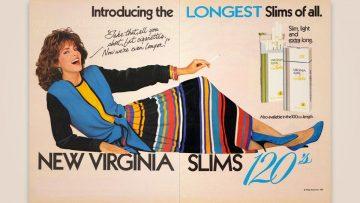 Mujeres: la otra grieta. Virginia Slims 120s.