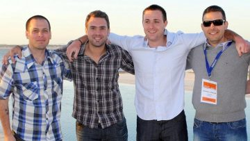 Ruben Sosenke, Álvaro García, Ariel Burschtin (PedidosYa) y Sebastián Lateulade (TotoTVMedia).