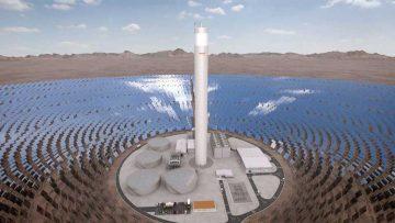 Energía renovable en América Latina: planta solar termoeléctrica.