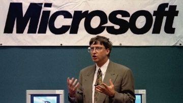 Bill Gates a los 40 años.