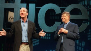 Amazon versus Microsoft, Bezos versus Gates.