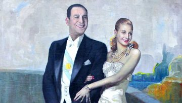 Día Internacional de los Trabajadores: Juan Domingo y Eva Perón.