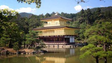 Templo del Pabellón de Oro de Kioto, Japón.