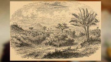 Cuba era Japón: dibujo de la colina de el Rubí.