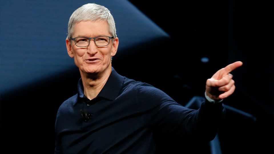 Tim Cook, CEO de Apple, durante la WWDC 2018.