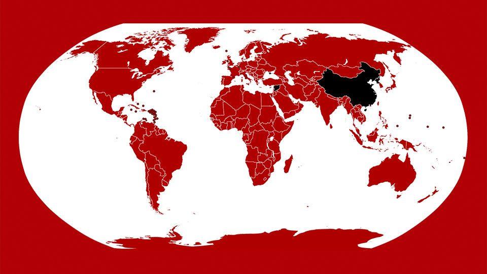 La vasta mancha roja de Netflix en los  confines del mundo.