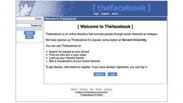 """Privacidad, peligro chino: portada original de """"thefacebook""""."""