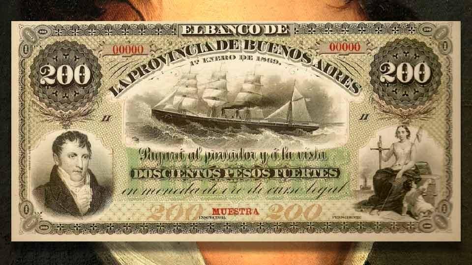 Manuel Belgrano primer economista del Río de la Plata: 200 Pesos Fuertes.