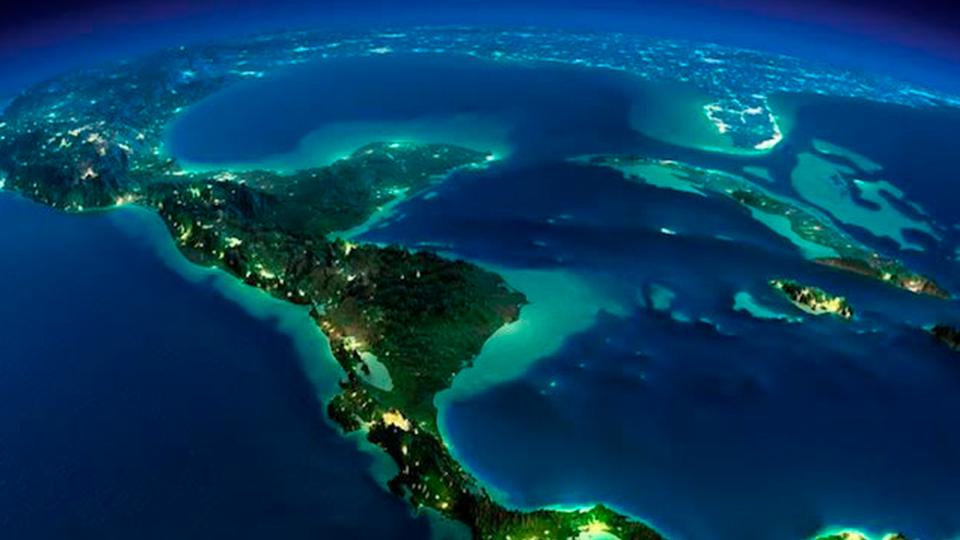 Día de la Tierra: imagen satelital de Centroamérica y el Caribe.