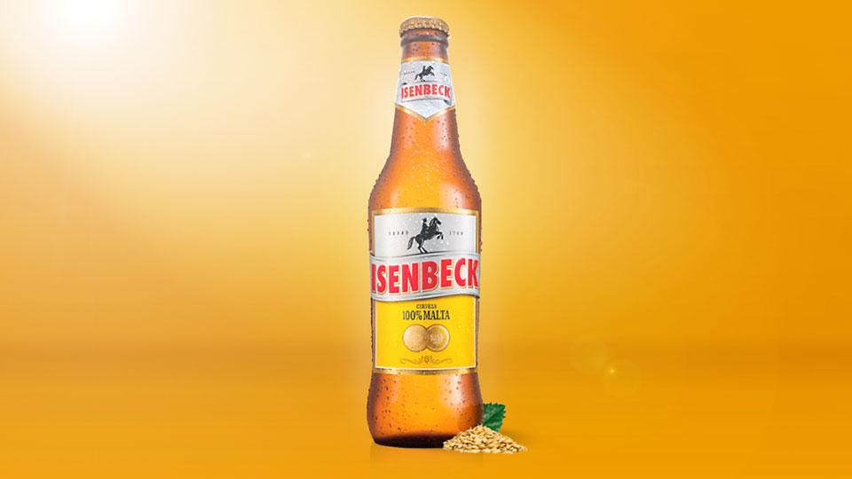 """Un presentador con problemas de dicción pesentaba la """"tapita a gosca"""" de la cerveza Isenbeck."""