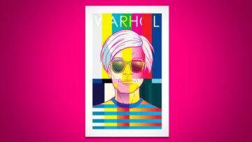 """Andy Warhol en la interpretación postmilenaria de el """"pinterester"""" Rob Ozborne."""