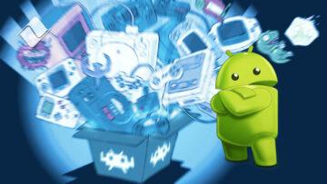 Androides digitales a la cabeza: la mirada de Android, el sistema operativo móvil de Google.