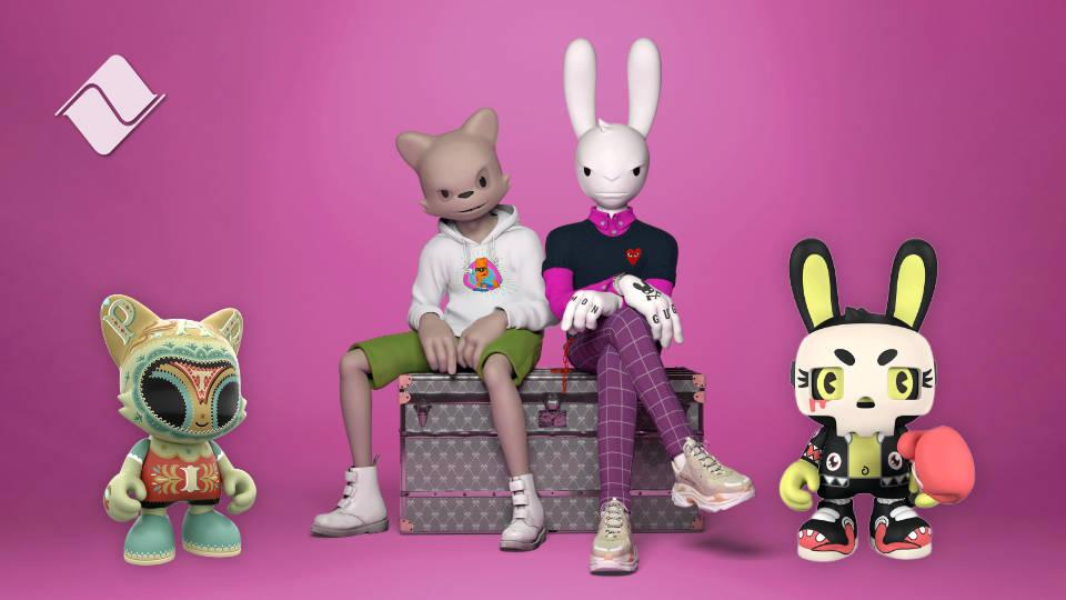 Androides digitales a la cabeza: Janky y Guggimon, las estrellas de Superplastic.
