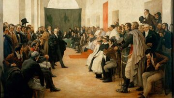 Óleo de Pedro Subercaseaux, en el Museo del Cabildo y la Revolución de Mayo.
