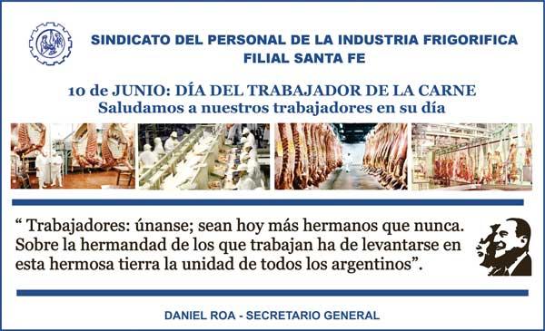 10 de junio: Día del Trabajador de la Carne de la República Argentina.