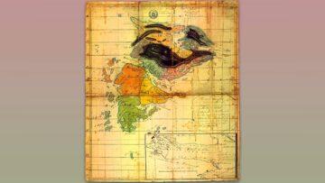 Mapa de la isla Soledad confeccionado por Luis Vernet entre 1826 y 1829.