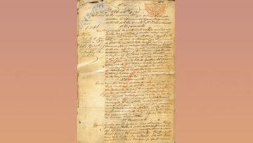 María Sáez de Vernet: facsímil de la patente de la invención de Luis Vernet para la conservación de cueros.