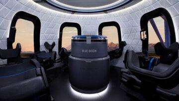 Día del Amigo 2021: la cabina de la cápsula de la New Shepard de Blue Origin.